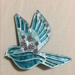 Designer Acrylic BirdBrooch Pin